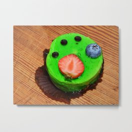 Confectionery handmade sweets, cakes and eclairs Metal Print