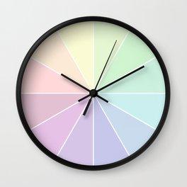 Pastels Summer Rainbow Wall Clock
