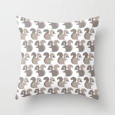Grey squirrel Throw Pillow