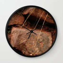 red rocks in the forest IV Wall Clock