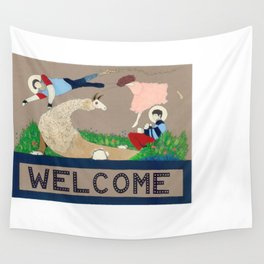 Welcome to the Family Wall Tapestry