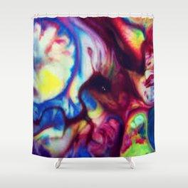 Fluid Color Shower Curtain