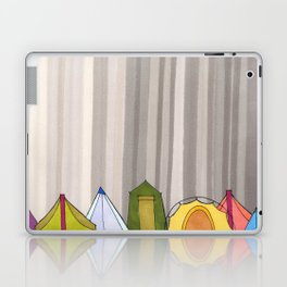 Stripes and Colorful Camping Tents 98 Laptop & iPad Skin