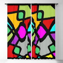 Color Abstract Pattern Blackout Curtain