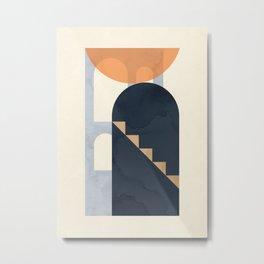 Minimalist Shapes AE Metal Print