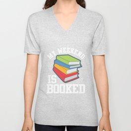 Librarian Avid Reader Bookworm Nerd Book Lover Unisex V-Neck