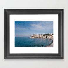 ligurian coast view Framed Art Print