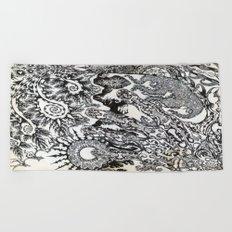 The Evolution of Man Within His Handz - By: Matthew Crispell Beach Towel