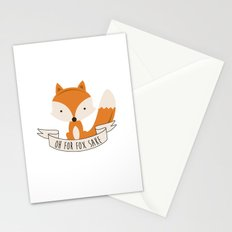 Oh for fox sake Stationery Cards