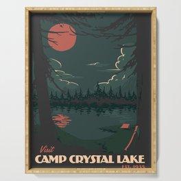Visit Camp Crystal Lake Serving Tray
