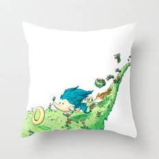 Starring Sonic and Miles 'Tails' Prower (Alt.) Throw Pillow