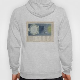 Vintage Celestial Star Map with Planetary Orbits (1858) Hoody