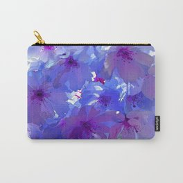 Blue Cherry Blossoms Carry-All Pouch
