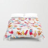 takmaj Duvet Covers featuring Birds by takmaj
