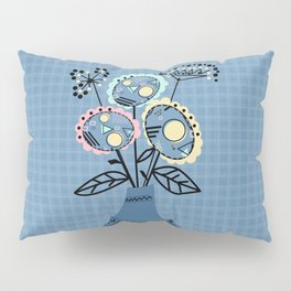 Quilling, flowers in vase Pillow Sham