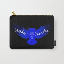 Wisdom Begins in Wonder - Galaxy Owl with Dark Background Carry-All Pouch