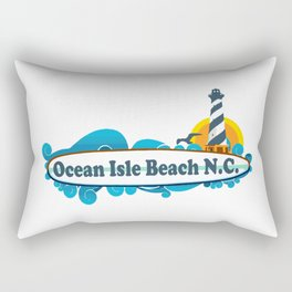 Ocean Isle Beach - North Carolina. Rectangular Pillow