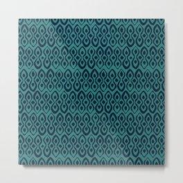 brocade indigo blue Metal Print