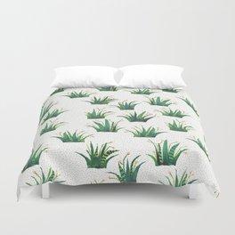 Field of Aloe Duvet Cover
