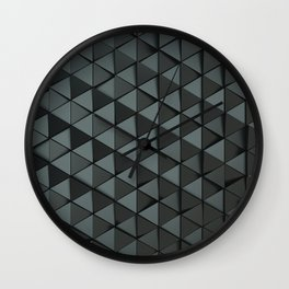 Pattern of black triangle prisms Wall Clock