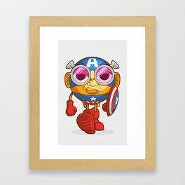 Captain Steve Roger Framed Art Print