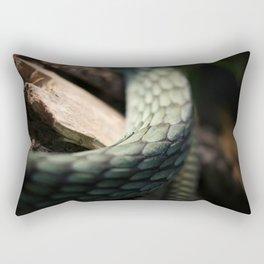 Green Mamba Scales Rectangular Pillow