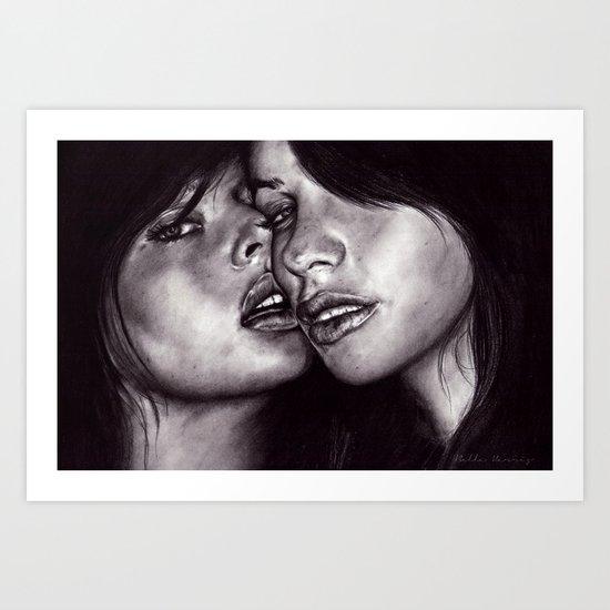 Friends (January)  Art Print
