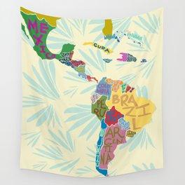 Map. Mapa. Carte. Wall Tapestry
