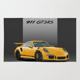 Porsche 911 GT3 RS in Racing Yellow Rug
