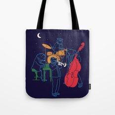 Animals plays Jazz Tote Bag