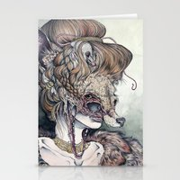 scary Stationery Cards featuring Vulpes Masquerade, now as a print! by Caitlin Hackett