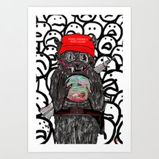 Pussy's In Power Art Print