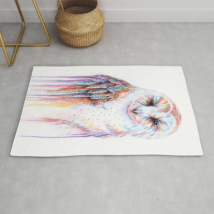 Colorful Owl Rug