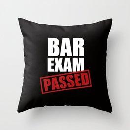Bar Exam Passed Throw Pillow