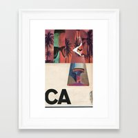 west coast Framed Art Prints featuring West Coast by Eric Amling