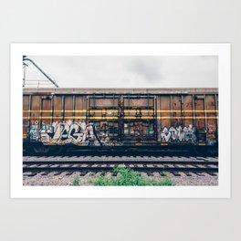 Graffiti Train Art Print