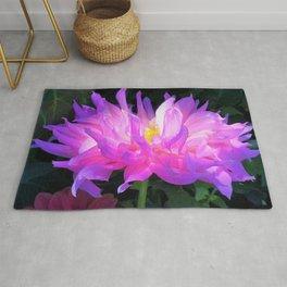 Stunning Pink and Purple Cactus Dahlia Rug