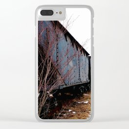Coal Town Road Clear iPhone Case
