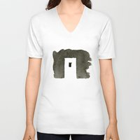 greece V-neck T-shirts featuring Greece by Paul Stickland for StrangeStore