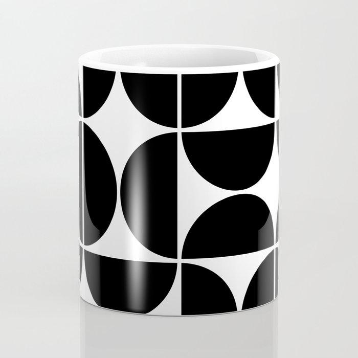 Mid Century Modern Geometric 04 Black Coffee Mug