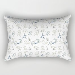 Dance kids and dancing animals Rectangular Pillow