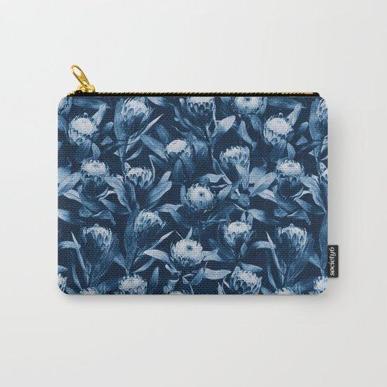 Evening Proteas - Denim Blue Carry-All Pouch