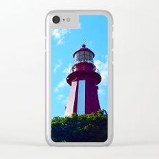 La Martre Lighthouse from Below Clear iPhone Case