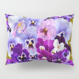 COLORFUL SPRING  PANSIES GARDEN COLLECTION Pillow Sham
