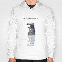 dalek Hoodies featuring Pixel Dalek by Dean Bottino