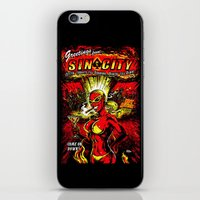 sin city iPhone & iPod Skins featuring Devil Girl Sin City Atom Bomb by Scott Jackson Monsterman Graphic