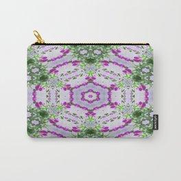 Purple Wildflower Kaleidoscope Art 1 Carry-All Pouch
