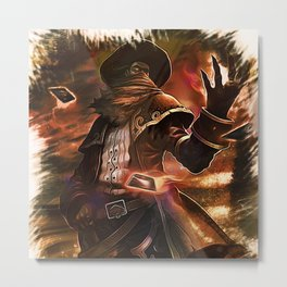 League of Legends HIGH NOON TWISTED FATE Metal Print