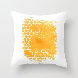 paint, ink, grunge, dirty brush strokes splash orange red yellow Throw Pillow