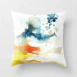 Ominous Silence Throw Pillow